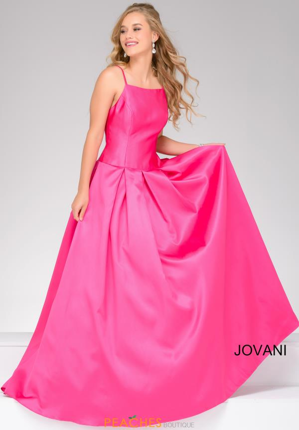 Jovani 48336 High Neckline Satin Dress