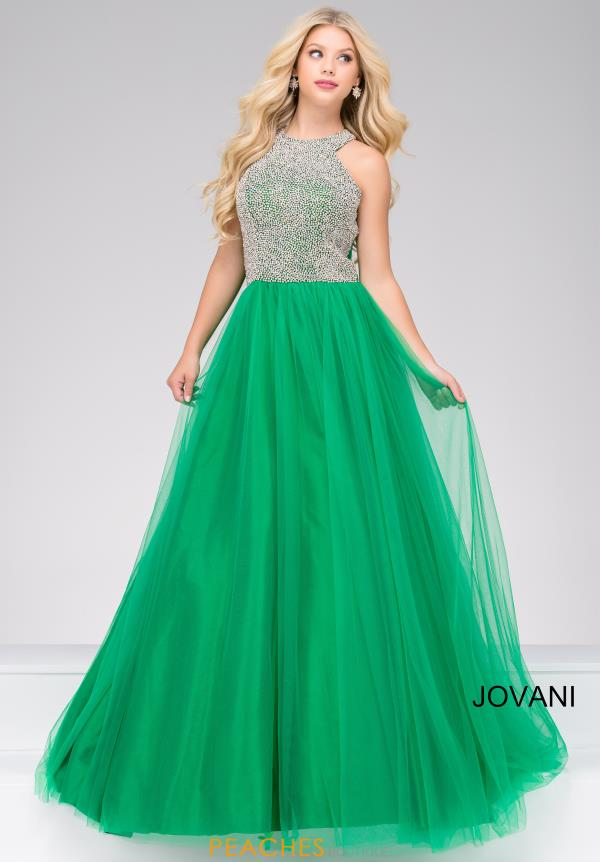Jovani High Neckline Beaded Dress 48942
