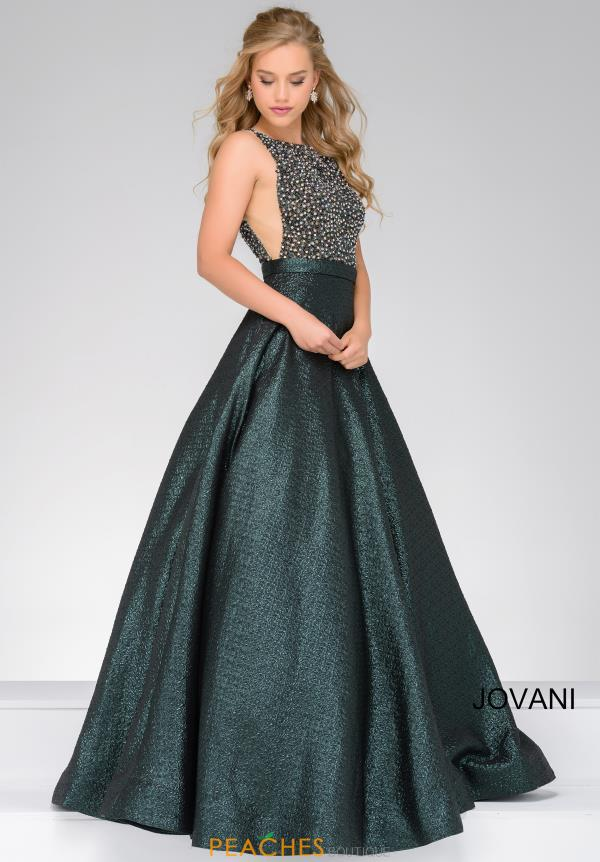 Jovani Beaded High Neckline Dress 49220