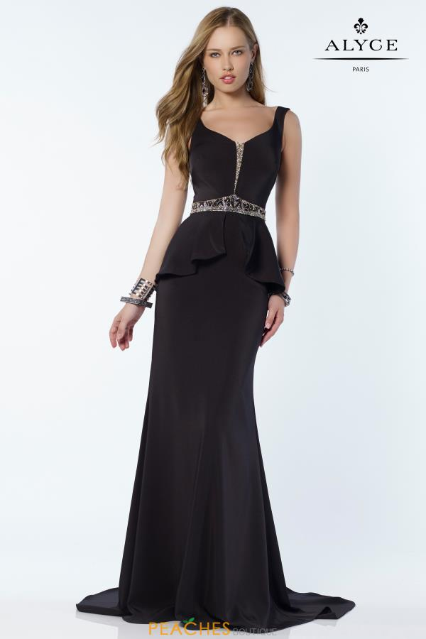 Alyce Paris Scoop Beaded Dress 2613