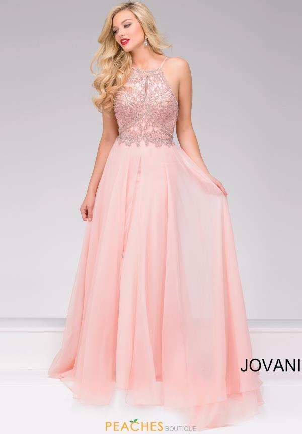 High Neckline Beaded Jovani Dress 33851