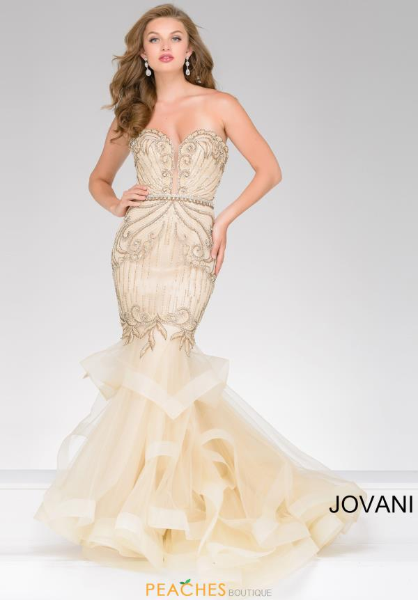 Jovani Long Beaded Dress 36984