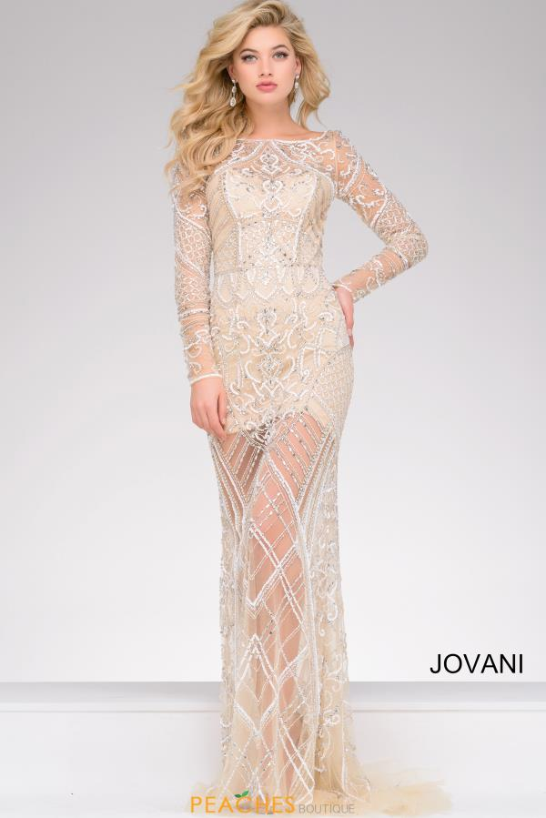 Jovani Long Sleeved Dress 39193