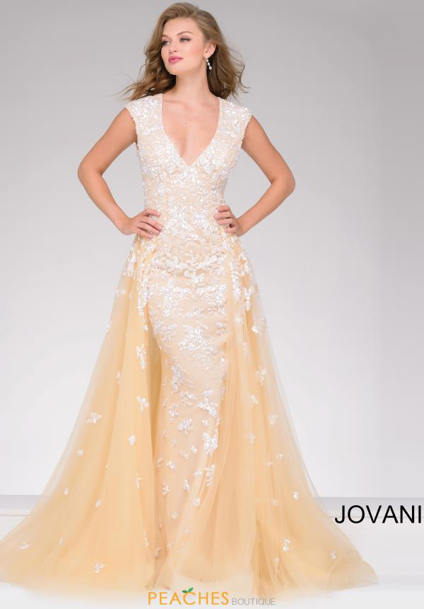 Jovani Long Beaded Dress 40408