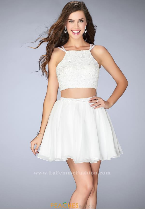 La Femme Short Prom Dresses 23531 at Peaches Boutique