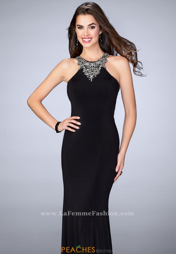 Gigi 23850 Halter Beaded Formal Dress