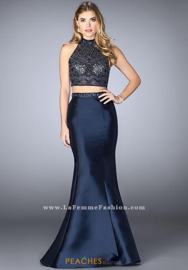 Gigi High Neckline Mermaid Dress 24388