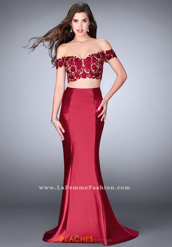 Gigi Two Piece Burgundy Dress 24413