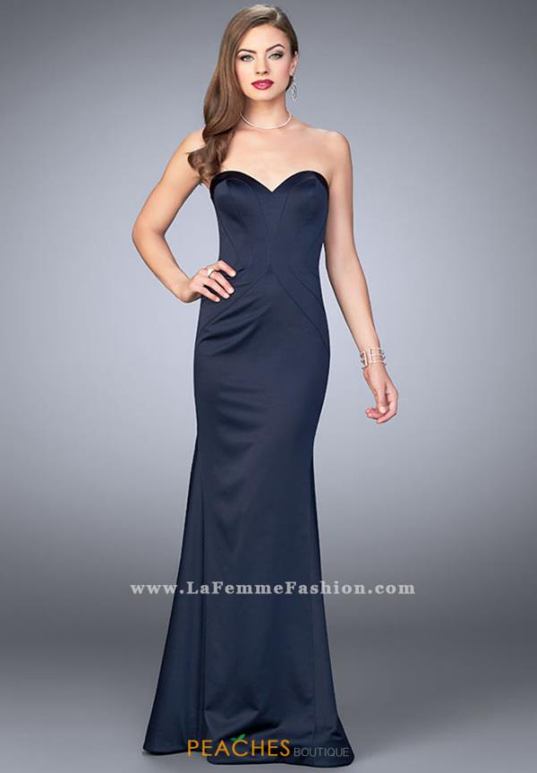 La Femme Sweetheart Neckline Fitted Dress 23197