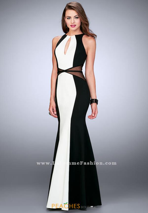 La Femme Formal Jersey Dress 23711