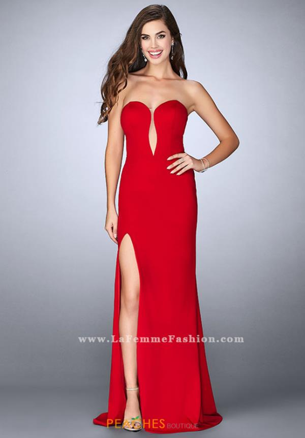 La Femme Formal Fitted Dress 23816