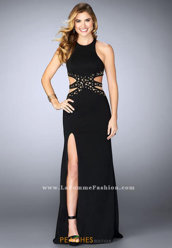 La Femme Fitted Sexy Dress 23841