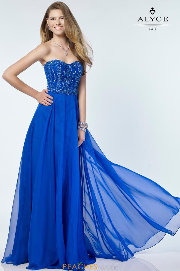 Alyce Paris A Line Beaded Dress 6685
