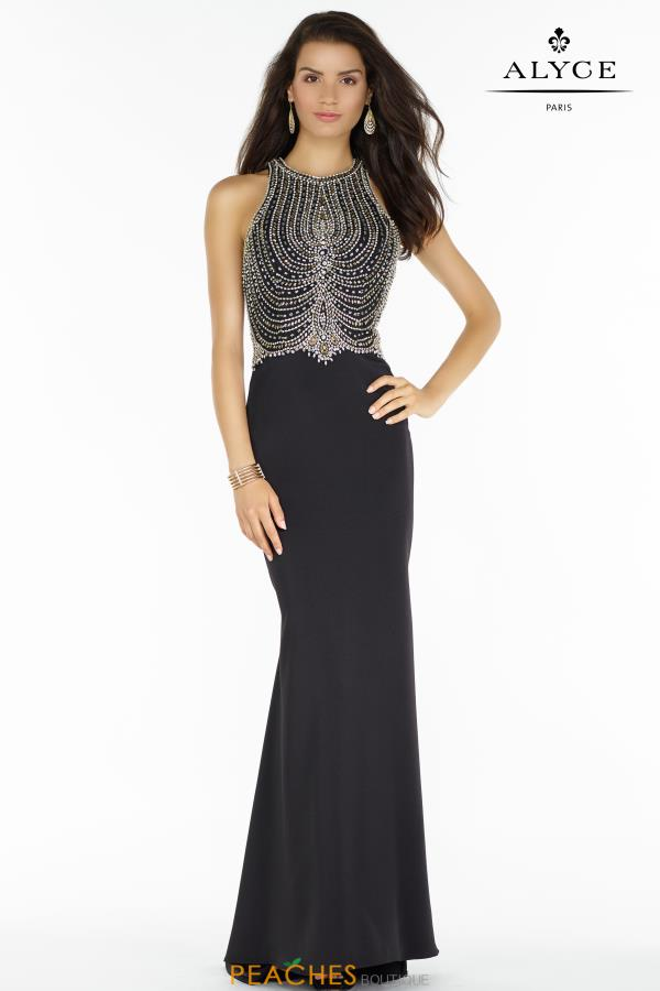 Alyce Paris Fitted Beaded Dress 6693