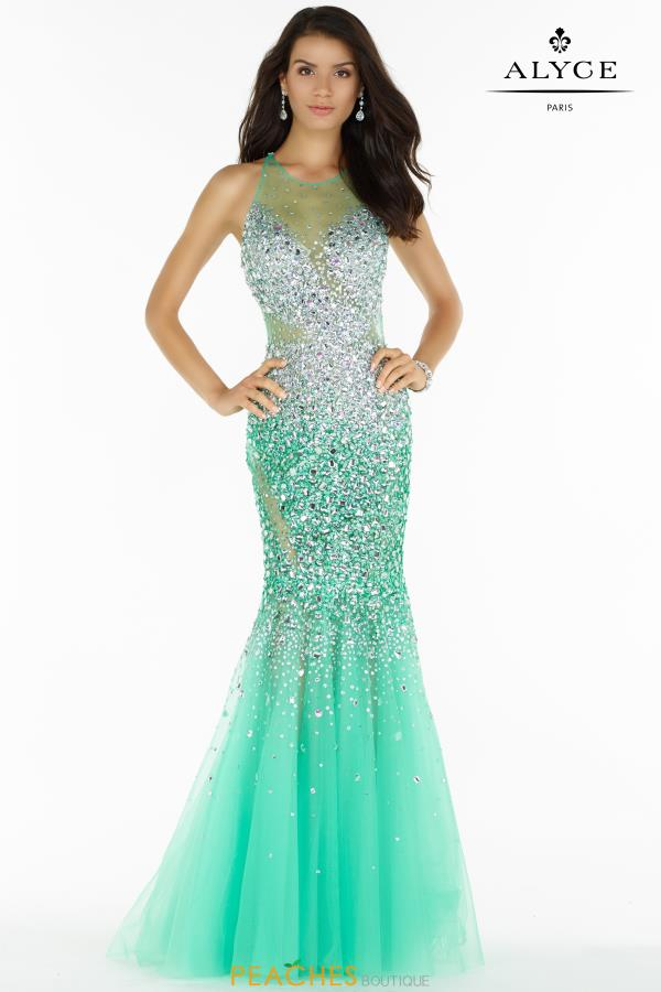 Alyce Paris Mermaid Beaded Dress 6716