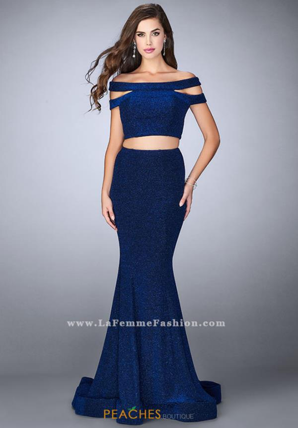 La Femme Sexy Back Fitted Dress 23856