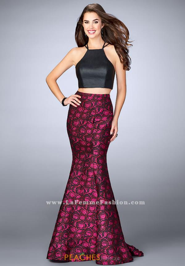 La Femme Two Piece Formal Dress 23864