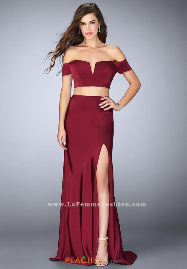 La Femme Two Piece Cap Sleeve Dress 23963