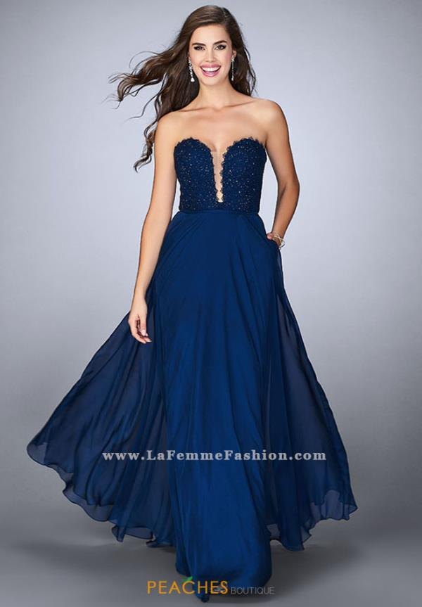 La Femme Sweetheart Long Dress 23970