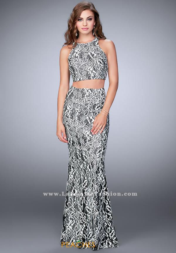 La Femme Two Piece Lace Dress 23976