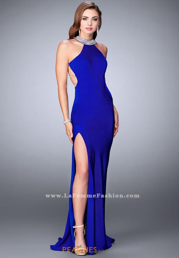 La Femme Sexy Back Fitted Dress 23982