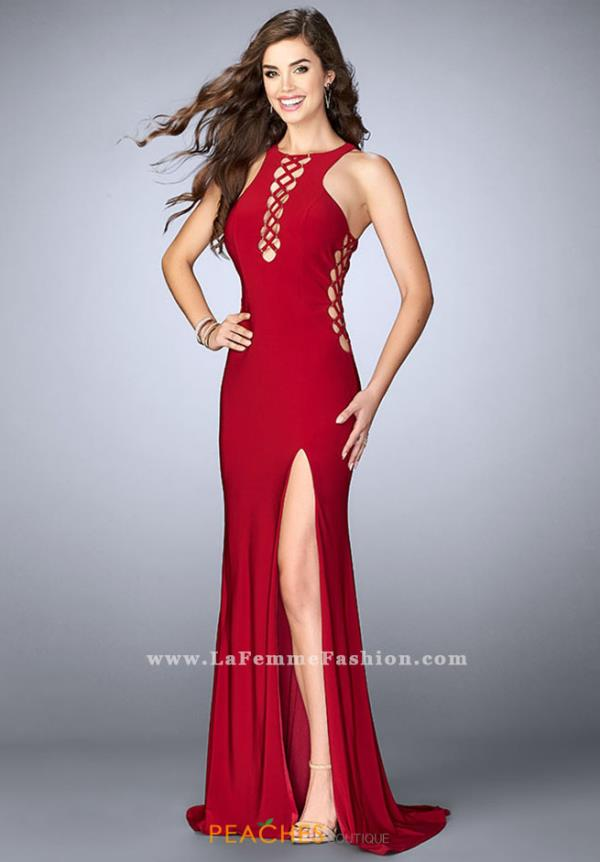 La Femme Sexy Fitted Dress 23989