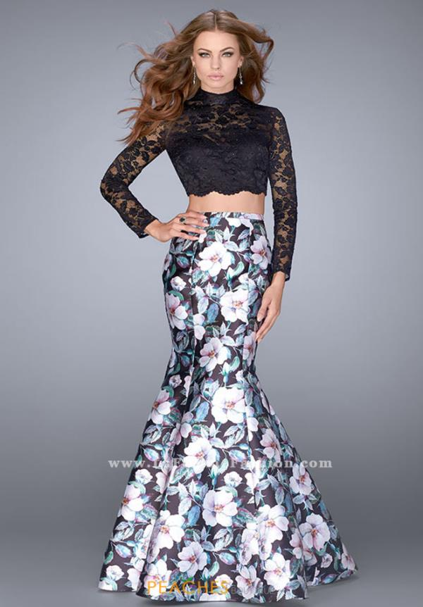 La Femme Mermaid Long Dress 24028