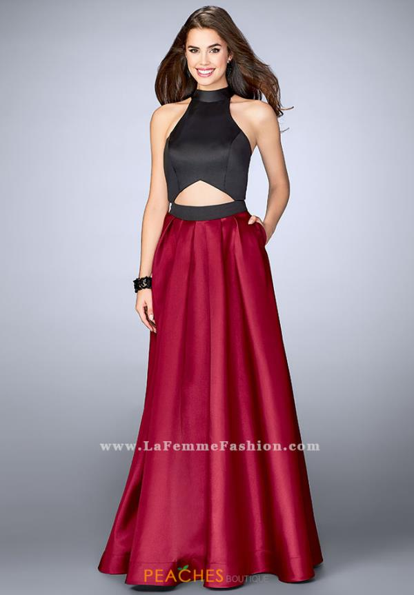 La Femme Two Piece A Line Dress 24135