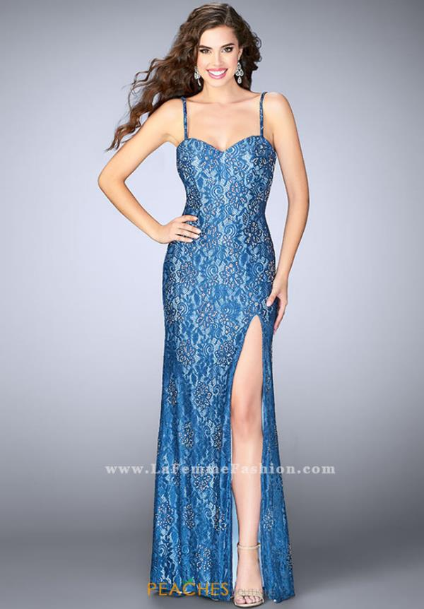 La Femme Sweetheart Lace Dress 24260