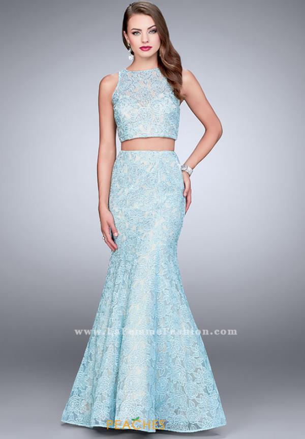 La Femme Long Mermaid Dress 24269