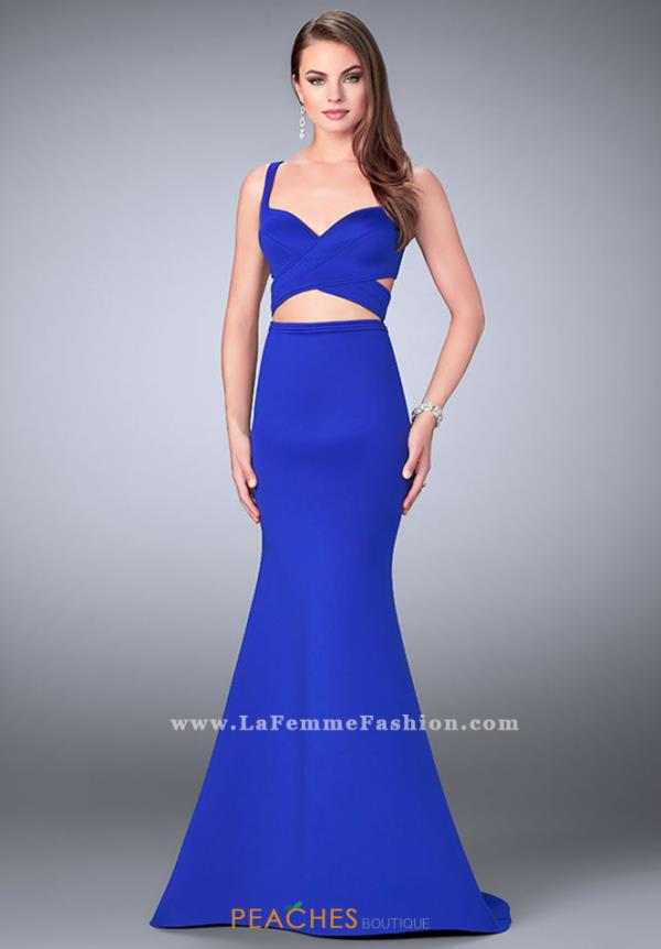 La Femme Fitted Two Piece Dress 24288