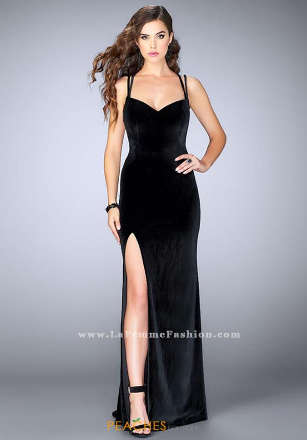 La Femme Sexy Fitted Dress 24317