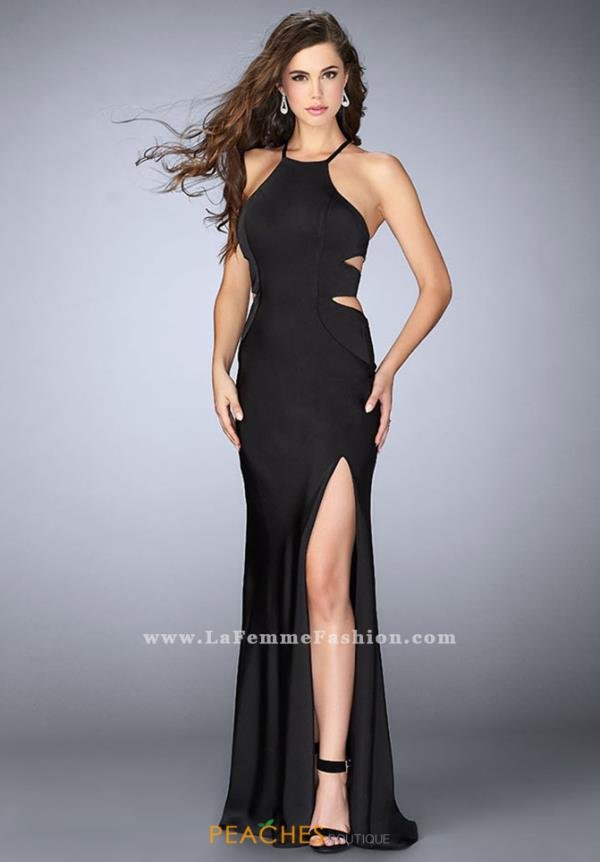 La Femme Sexy Fitted Dress 24380