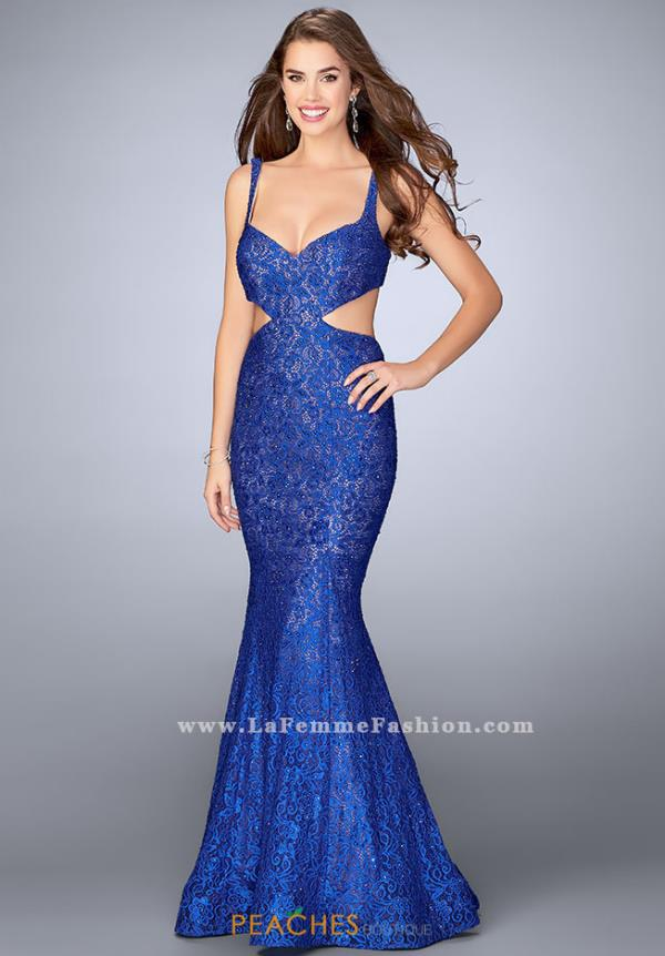 La Femme Sweetheart Beaded Dress 24462