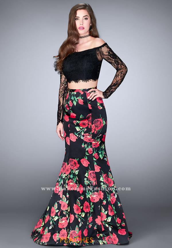 La Femme Two Piece Print Dress 24522