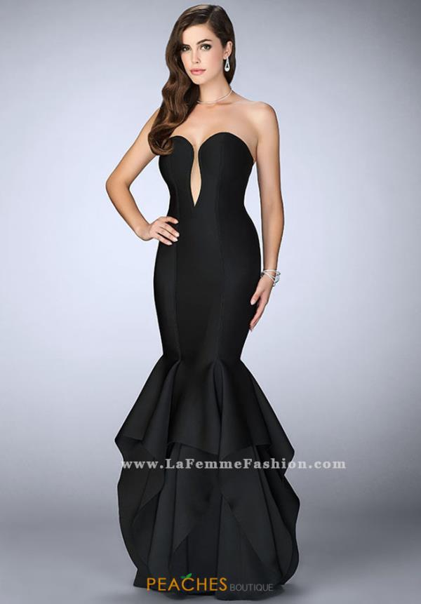 La Femme Neoprene Mermaid Dress 24537