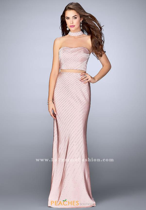 La Femme Fitted Two Piece Dress 24594