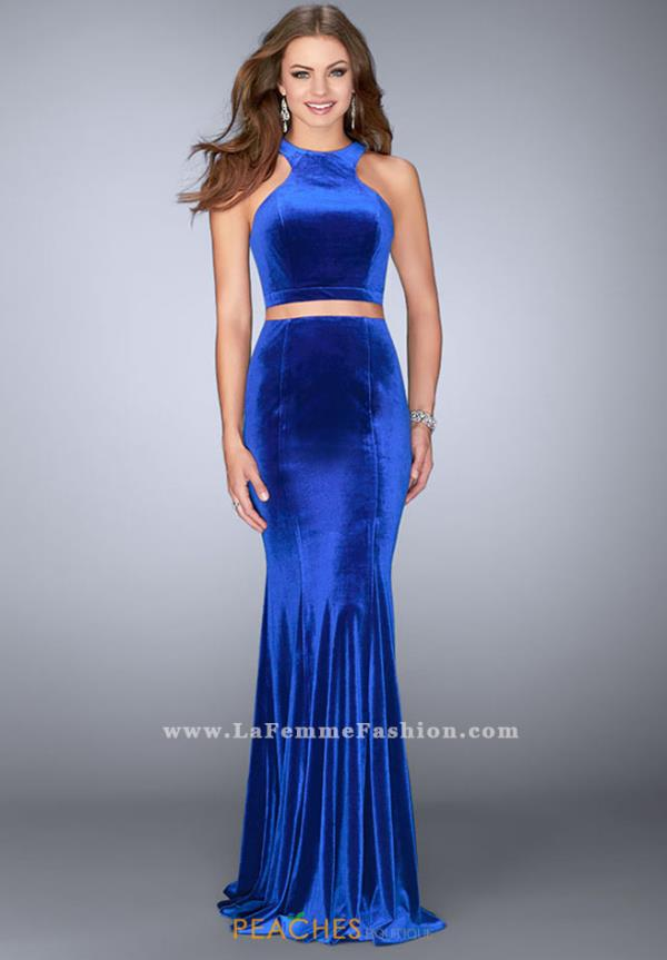 La Femme Two Piece Fitted Dress 24599