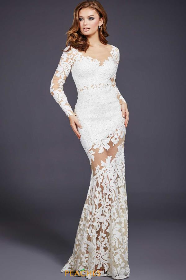 Long Sleeved Fitted Jovani Dress 32607