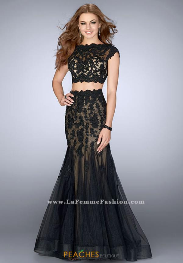 La Femme Sleeved Two Piece Dress 23567