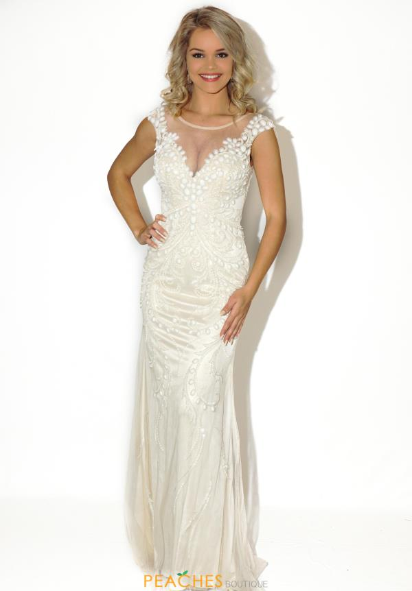 Jasz Couture Beaded Long Dress 5620