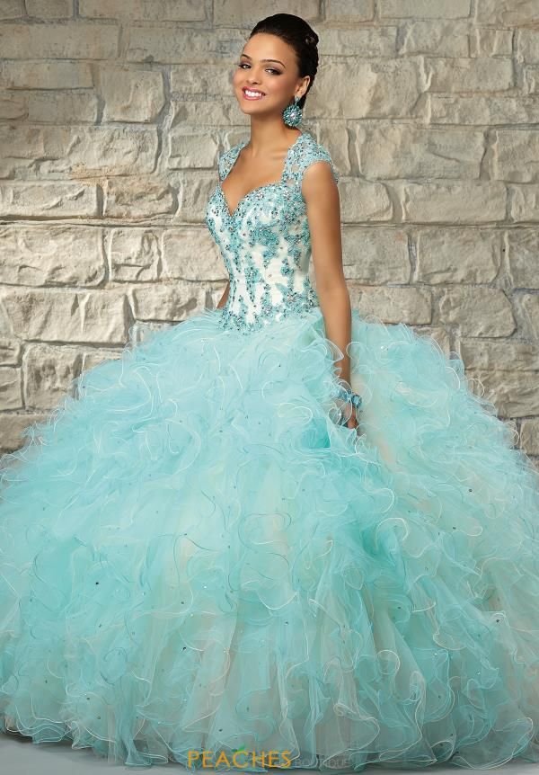 Vizcaya Applique Bodice Quinceanera Dress 89029