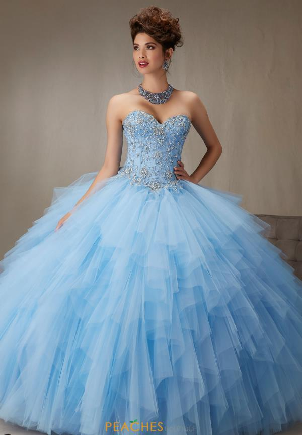 Cap Sleeved Beaded Vizcaya Quinceanera Dress 89066