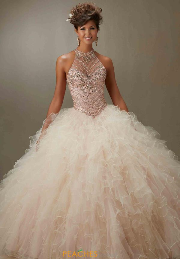 Halter Top Beaded Vizcaya Quinceanera Dress 89070
