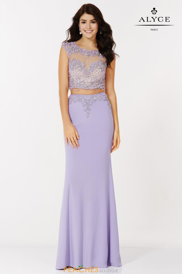 Alyce Paris Fitted Beaded Dress 6704