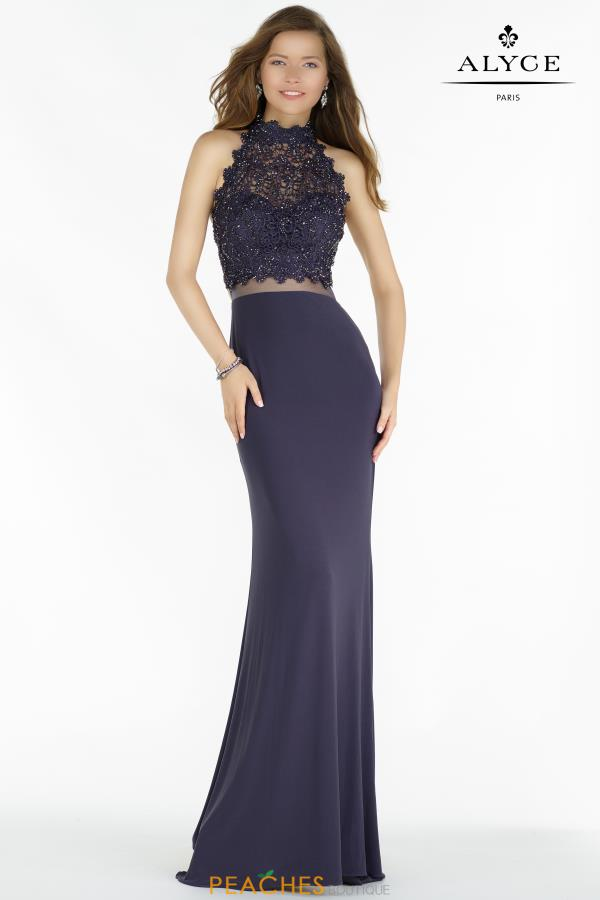 Alyce Paris Long Halter Dress 6737