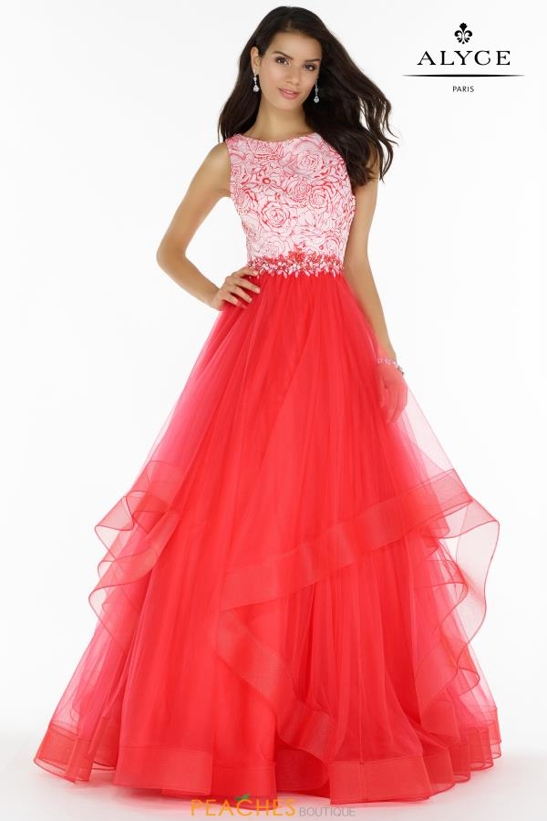 Alyce Paris Long Tulle Dress 6768