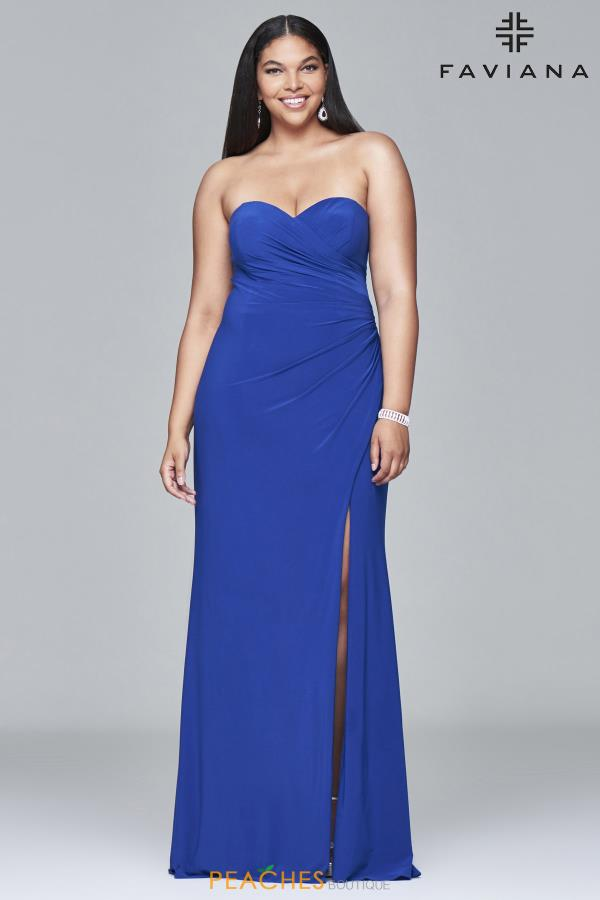 Faviana Strapless Long Dress 9413