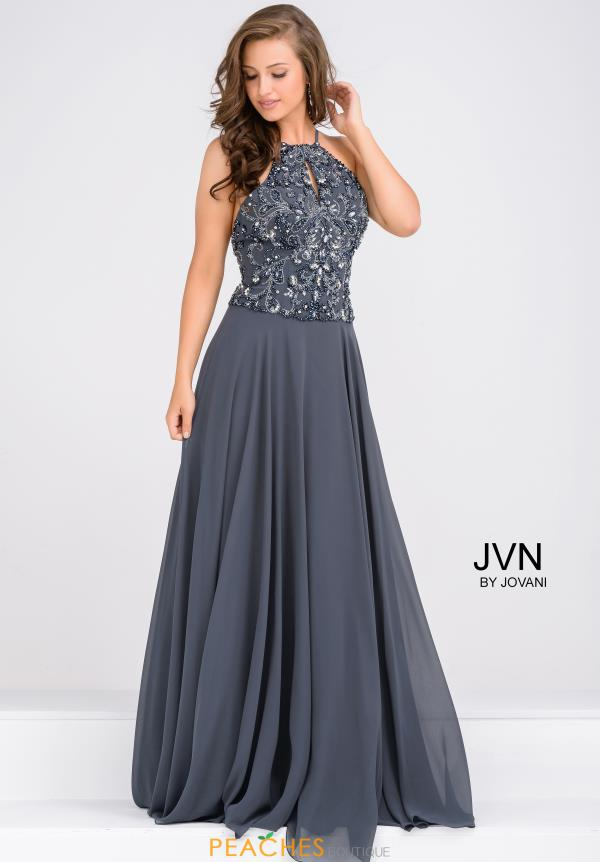 JVN by Jovani Halter Top Beaded Dress JVN33700
