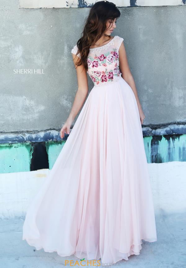 Sherri Hill Sleeved A Line Dress 51249